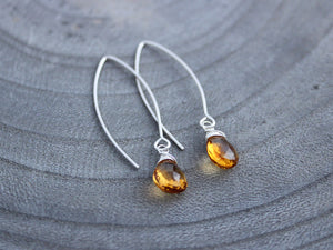Citrine Sterling Silver Earrings