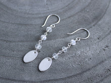 Moonstone Recycled Silver Dangle Earrings