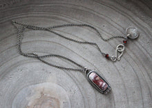 Crazy Lace Agate Silver Accent Necklace No. 1