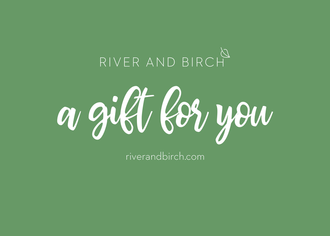 River and Birch gift card