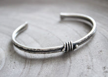 Rustic Sterling Silver Knot Cuff Bracelet
