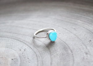 Silver Turquoise Stacking Ring No. 1