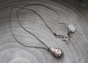 Crazy Lace Agate Silver Accent Necklace No. 3