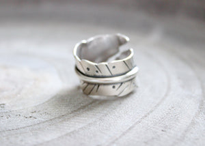 Handmade Sterling Silver Feather Ring