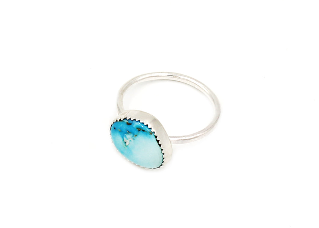 Silver Turquoise Stacking Ring No. 2