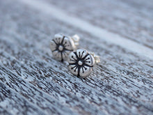 Recycled Silver Flower Stud Earrings