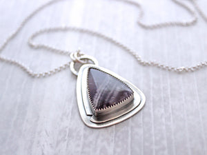 Chevron Amethyst Necklace