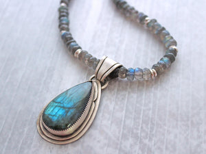 Labradorite Sterling Silver Statement Necklace