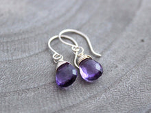 Petite Amethyst Sterling Silver Earrings