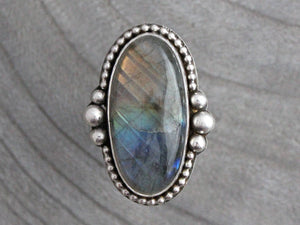 Labradorite Sterling Silver Statement Ring