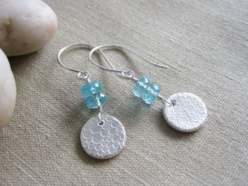 Teal Apatite Earrings