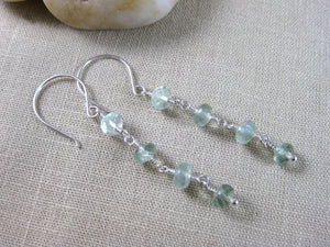 Prehnite Ombre Sterling Silver Dangle Earrings