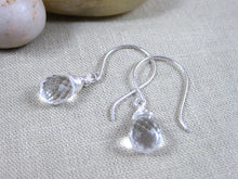 Rock Crystal Quartz Sterling Silver Earrings