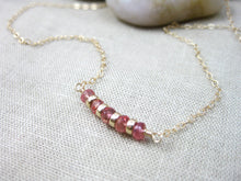 14 kt Gold Filled Orange Sapphire Necklace