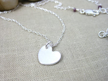 Small Recycled Silver Heart Necklace
