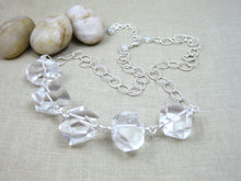 Chunky Rock Crystal Quartz Statement Necklace
