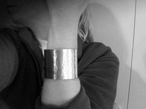 Wide Sterling Silver Statement Cuff Bracelet
