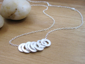 Recycled Silver Circles Necklace