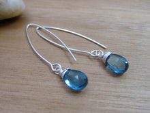 London Blue Topaz Sterling Silver Earrings