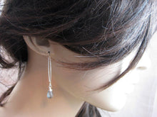 Moss Aquamarine Sterling Silver Drop Earrings