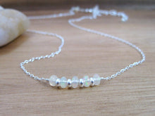 Ethiopian Opal Sterling Silver Layering Necklace