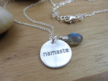 Namaste Recycled Silver Labradorite Necklace