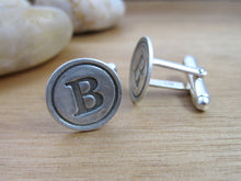 Traditional Letter Initial Cuff Links