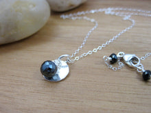 Black Spinel Sterling Silver Layering Necklace