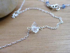 Herkimer Diamond Tiny Layering Necklace