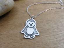 Recycled Silver Penguin Necklace