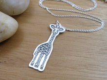 Recycled Silver Giraffe Necklace