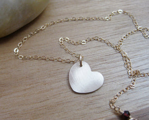 14 kt Gold Filled Heart Necklace