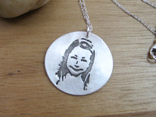 Personalized Recycled Silver Custom Photo Necklace