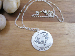 Personalized Recycled Silver Pet Necklace