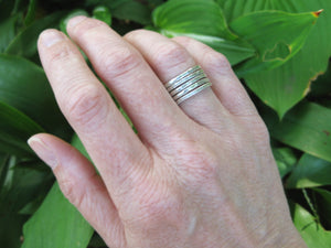 Sterling Silver Stacking Rings – Set of 5