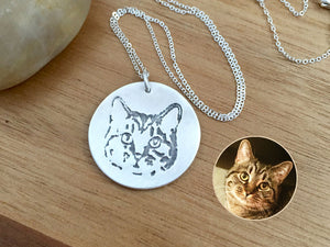 Custom Cat Necklace Personalized Pet Keepsake Jewelry