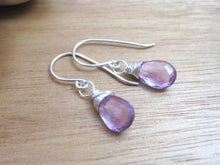 Rose de France Amethyst Sterling Silver Earrings