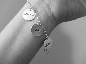 Custom Handwriting Charm Bracelet