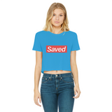 Saved 1 for printify short sleeve tee Classic Women's Cropped Raw Edge T-Shirt