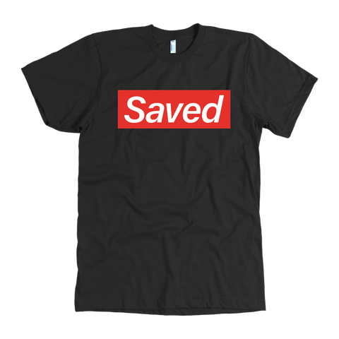"""Saved"" Brand Shirt in Blk"