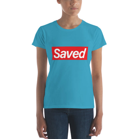 """Saved"" Women's short sleeve t-shirt"