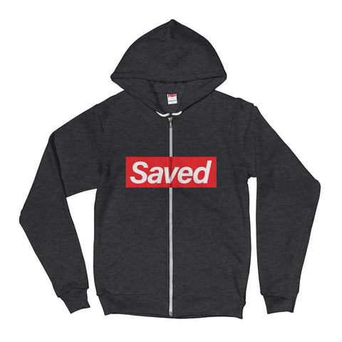 Saved Hoodie sweater w/zipper