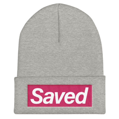 """Saved"" Cuffed Beanie"