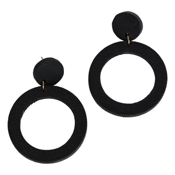 Moshi black earrings