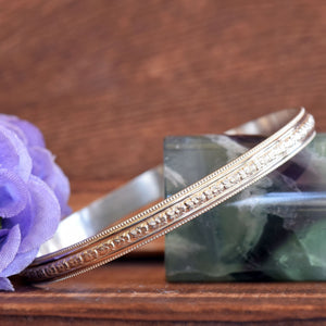 Row of Flowers Bangle Bracelet