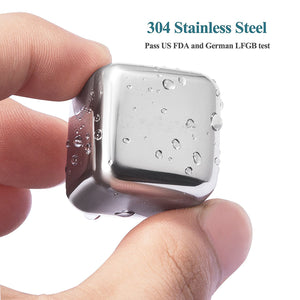 Reusable Ice Cubes Stainless Steel
