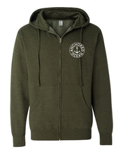 Load image into Gallery viewer, AO Circle Hooded Zip-Up Fleece