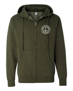 AO Circle Hooded Zip-Up Fleece
