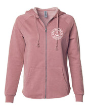 Load image into Gallery viewer, AO Circle Women's Zip-Up Hoodie