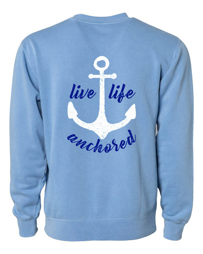Live Life Anchored Crew Fleece